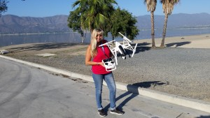 Drone Diva Desi flying the Yuneec Q500 in Beautiful Lake Elsinore CA