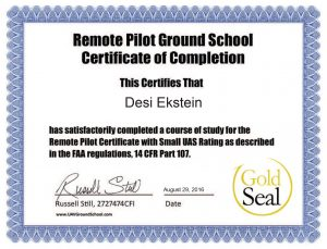 Gold Seal UAV Course Completion