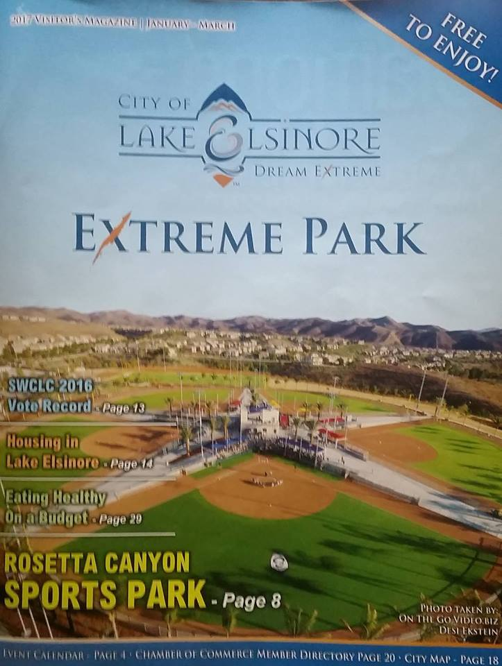 Cover photo Lake Elsinore Chamber Magazine